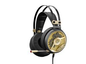 A4tech M660 MOCI HIFI Gaming Headset, Built-in Microphone, Light Weight, Compatible across platforms(Gold)