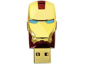 "InfoThink Marvel Iron Man 3 ""Mark VI"" Helmet USB 2.0 8GB Flash Drive (Gold/Red)"