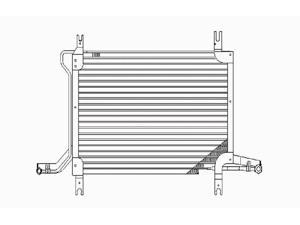 VAIP 4531 Replacement AC Condenser For Ford F-150 Ford F-250 Ford F-350