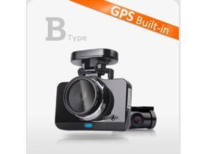 "Lukas LK-9700 Duo (LK-9700G) B Type GPS Built-in. 16GB + 8GB = 24GB 2 Channel Full HD & 800 x 480 4"" LCD Touch Screen, Ready to install OBD II Module (Optional) Dash Cam, Black Box"