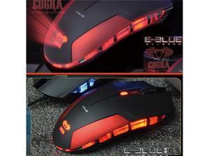E-3LUE Cobra 6 Buttons USB Pro-Gaming Mouse Shining Red & Blue