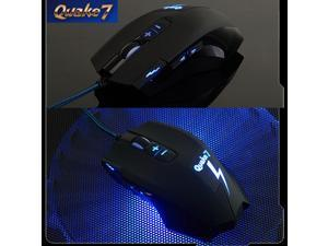 8D 2400DPI Ajazz Quake7 Molten Gaming Mouse 8 Buttons MMO CS WOW RAZER CF FPS