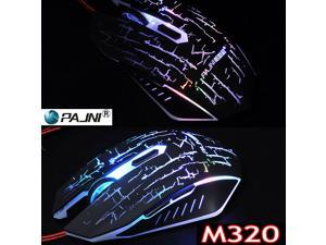 2400DPI 6D PAJNI M320 Computer Gaming Optical Mouse FOR MMO WOW RAZER FPS LOL DOTA
