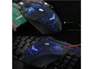 2014 BLUE Havit 2400DPI X4 7D 6 Buttons Optical Usb Pro-Gaming Mouse Razer WOW CS CF