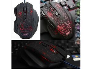 2014 7D 2000DPI Magic Hawk Molten Gaming Mouse 7 Buttons for MMO WOW CS CF LOL FPS