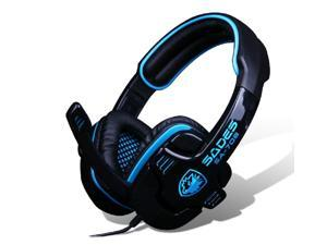2014 SADES SA-708 Blue Light Gaming Headsets Headphone & Microphone for RAZER GMAER MSN SKYPE LIVE CHAT