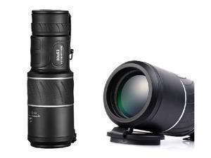 PANDA 30x50 Dual Focus Zoom Green Optic Lens Armoring Monocular Telescope - Black