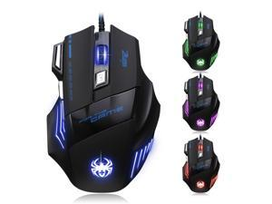 MASTER T80 2nd Gen. 5500DPI 8D 7 Buttons Optical Usb Gaming Mouse with 7 Colors LED