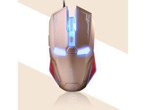 NAFFEE Iron Man G5S 6 Buttons X3 Optical Wired Usb Professional Gaming Mouse - 2400DPI 6D, Auto Sleep Function, Accurate and Reliable Sensor - for PC Laptop Gamer
