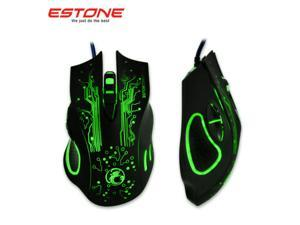 2400DPI 8D ESTONE X9 The Hulk Optical 6 Buttons Usb Wired PC Gaming Mouse WOW CF