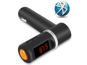 Handsfree Bluetooth Car Kit Mp3 Player FM Transmitter Dual Two Usb Chargers