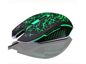 7D 2400DPI The Phantom Glare 6 Buttons Usb Gaming Mouse for PCs CF LOL RAZER WOW