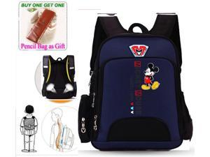 Disney Mickey MINNIE  Lovely School Bag for Grades 1-3 Children Kids Backpack Rucksack