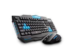 Delog V90 2.4GHz Wireless Gaming Keyboard & Mouse w/ 1600DPI 6 Bttuons Mice Set