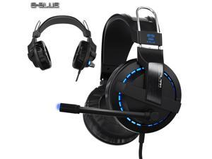 E-3LUE Cobra EHS937 Blue Light Gaming Headsets & Microphone for Gamer MSN SKYPE