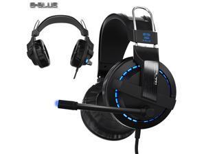 E-3LUE Cobra EHS937 Blue Light Gaming Headsets & Microphone for Gamer MSN SKYPE