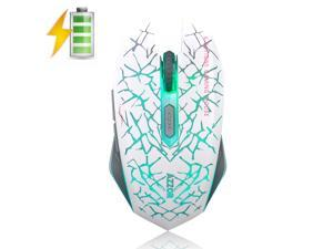 UrChoiceLtd® 2016 AZZOR M6 2.4GHz 2400DPI Rechargeable 6 Buttons Wireless Mouse Lithium Batteries Luminous Mute Fluoresce Wrangler illuminated Usb Gaming Mouse For Computer