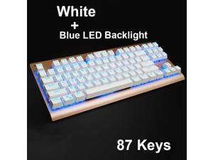 UrChoiceLtd® 2016 Yuansu X-Falcon 87 Keys Keyboards Usb Wired LED illuminated Backlight Ergonomic Mechanical Gaming Keyboard Black / Blue Switch for Office Typists and Play Games