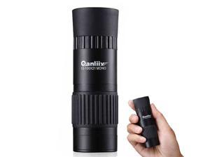 Phenix QANLIIY 10-100x21 Portable HD Green Optic Lens Monocular Telescope with a Tripod