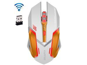 UrChoiceLtd 2016 NAFFEE Star 2.4GHz Wireless 6D 2400DPI Rechargeable Silent 6 Buttons Usb Optical Gaming Mouse For Laptop Computer Notebook Desktop Game Office