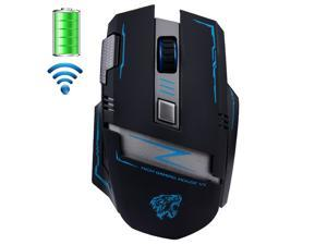 UrChoiceLtd® 2016 Actme V5 Mice 2.4GHz Wireless Mouses Rechargeable 2400DPI Pro Battle 6 Buttons Optical Usb Gaming Mouse