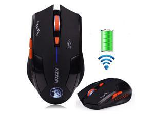 UrChoiceLtd® 2016 2.4GHz AZZOR Magic Hawk X3 Wireless Mouses 6D Rechargeable Battery 2400DPI 6 Buttons Mice Usb Gaming Mouse