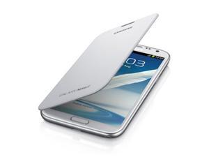 OEM White Samsung Flip Cover w/ NFC Technology for Samsung Galaxy Note 2
