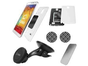 Cellet Magnetic Quick Snap Windshield w/ Sticky Pad Phone Holder for Smartphones