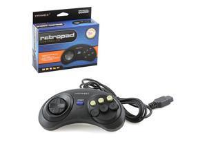 Retro-Bit - 6 Button RetroPad Wired Controller for Genesis