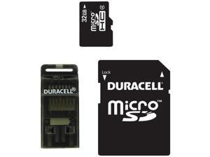 DURACELL DU-3IN1-32G-R Class 4 microSD(TM) Card with SD(TM) & USB Adapters (32GB)