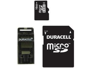 DURACELL DU-3IN1-16G-R Class 4 microSD(TM) Card with SD(TM) & USB Adapters (16GB)