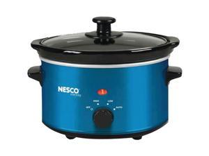 NESCO SC-150B 1.5-Quart Oval Slow Cooker (Metallic Blue)