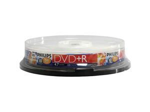 PHILIPS DR4S6B10F/17 4.7GB 16x DVD+Rs (10-ct Cake Box Spindle)
