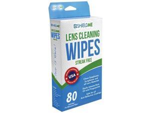 ShieldMe 6080 Lens Cleaning Wipes, 80 ct