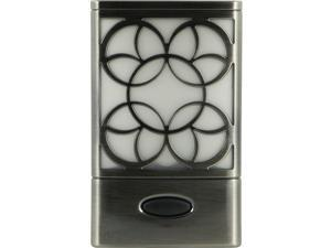 GE 11318 Faux Brushed-Nickel Rechargeable Decorative LED Night-Light
