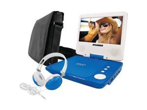 "SYLVANIA SDVD7060-COMBO-BLUE 7"" Swivel-Screen Portable DVD Player Bundle (Blue)"