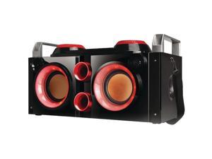 QFX PBX-505200BT RED Rechargeable Bluetooth(R) Party PA Boombox (Red)