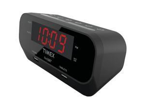 TIMEX T129B RediSet Dual Alarm Clock with Dual USB