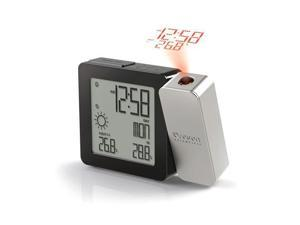 Projection Clock w/IN OUT Temp SILVER