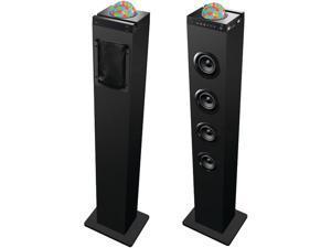 SYLVANIA SP410 Disco Ball Tower Bluetooth(R) Speaker Dock with USB & FM Radio