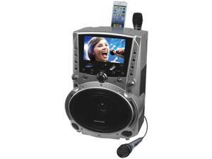 "KARAOKE USA GF757 DVD/CD+G/MP3+G Karaoke System with 7"" TFT Color Screen and Record Function"