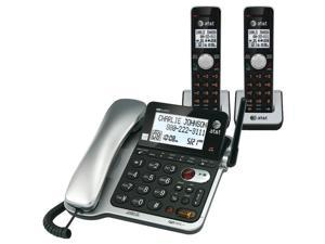 ATT ATCL84202 DECT6.0 Corded/Cordless Phone with Call Waiting & Caller ID, 2-Handset