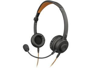 TOUGH TESTED TT-1H3X 3-in-1 Multi-Use Wired Convertible Stereo/Mono Headset with Boom Microphone & Gaming Connectors