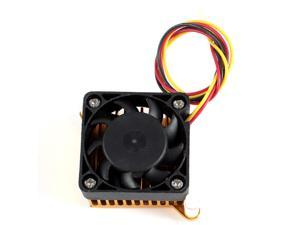 Black Plastic Cooling Fan Gold Tone Aluminum VGA Card Heatsink Cooler 40mmx40mm