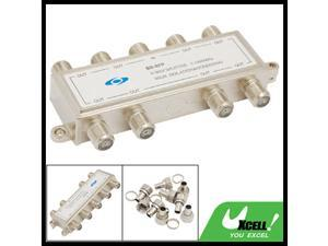 8 Way Cable TV Antenna Coaxial CATV RF Signal Splitter
