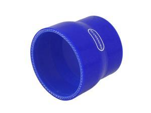"""70mm-80mm 2 3/4"""" - 3 1/8"""" Silicone Hose Straight Reducer Coupler Blue"""