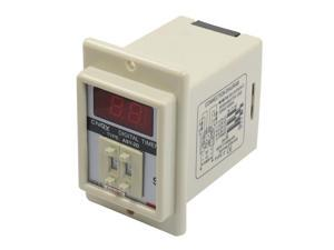 White AC 110V Power on Delay Timer Time Relay 0.1-9.9 Second 8 Pins ASY-2D
