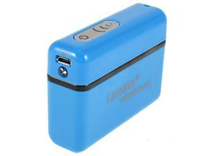 Portable LED 5600mAh USB Power Bank External Battery Charger Blue for Cell Phone