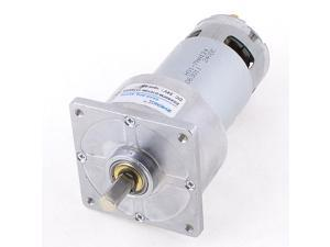 Unique Bargains Cylindrical Soldering Rotatory Gear Motor 46r/min 24VDC