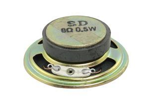 "2"" Diameter Round Metal Shell External Magnet Speaker 8 Ohm 0.5W"